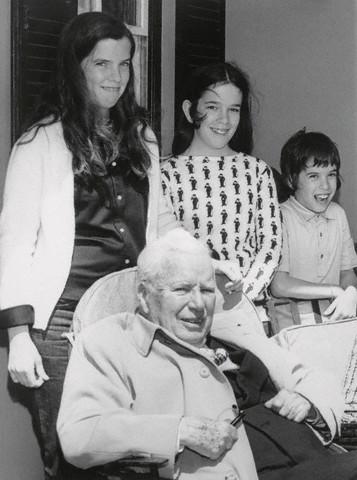 Charlie Chaplin with Children in Bermuda