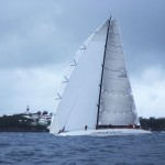 2012 Newport Bermuda Yacht Race - finish. Dateline: 06:09:18 EDT June 17. Bermuda: George David's 90ft maxi Rambler has smashed the 635 mile Newport Bermuda race record, clipping a massive 14 hours off the previous best time set 10 years ago by Roy Dis
