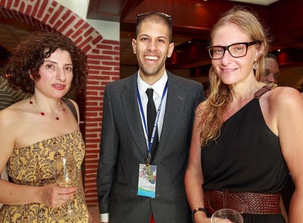 Julia Loktev, Andrew Stoneham from BIFF, Eva Orner
