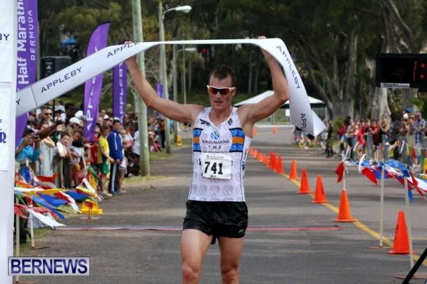 Tyler Butterfield Wins Half Marathon Derby Bermuda Day, May 24 2013