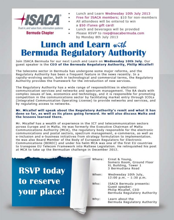 ISACA-Bermuda-Lunch-and-Learn-July-2013-v3