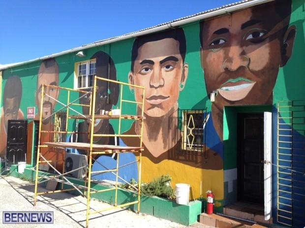 mural bermuda football