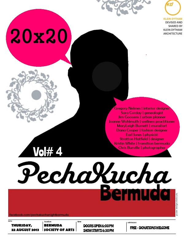 Pecha Kucha Bermuda flyer - August 22 2013