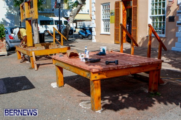 St Georges Town Square Stocks Bermuda, August 21 2013-16