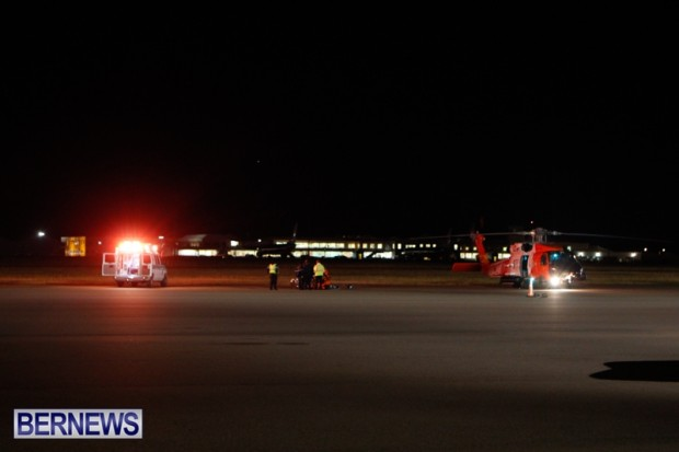 US Coast Guard Helicopter Medivac Bermuda, November 18 2013-9
