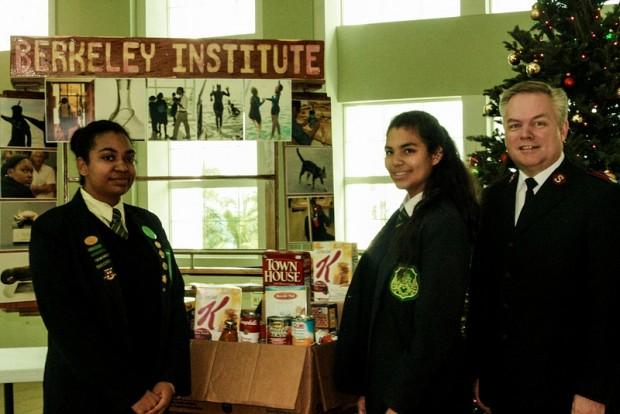 Berkeley Key Club Donates To Salvation Army Bermuda 2013