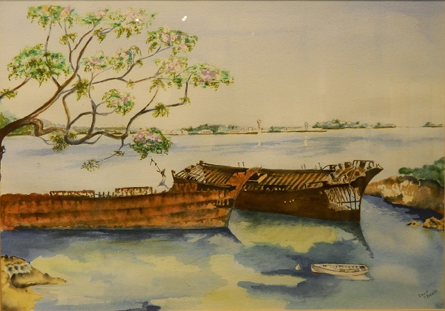 At Rest David Beale Watercolour