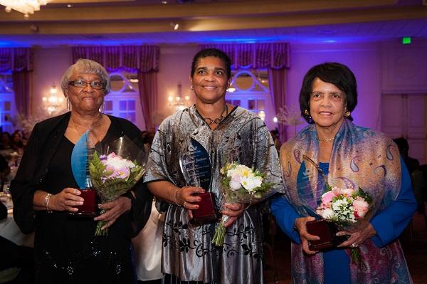 Sister Molly Burgess, The Hon. Patricia Gordon-Pamplin (standing in for Louise Jackson), Dr. Eva Hodgson