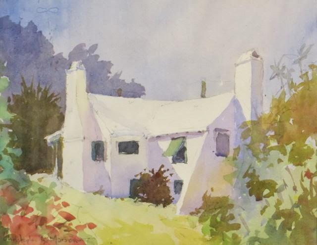 Somerset, Noon Christopher Marson Watercolour