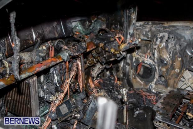 St David's Car Fire Bermuda, January 1 2014-3