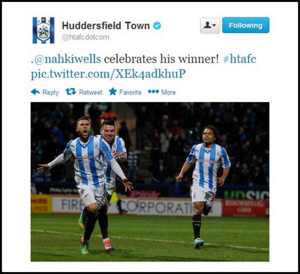 Wells celebrates 1st Hudd goal