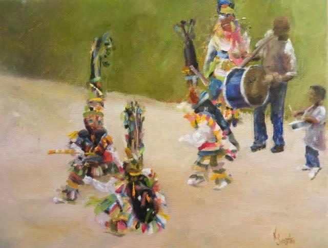Young Gombeys Nancy Smythe Oil on Canvas