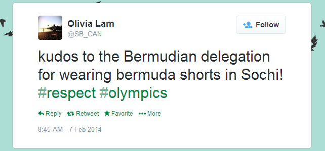 Twitter   SB_CAN  kudos to the Bermudian delegation ...