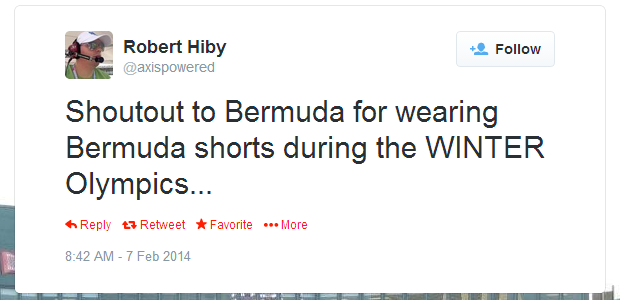 Twitter   axispowered  Shoutout to Bermuda for wearing ...
