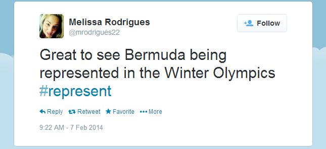 Twitter   mrodrigues22  Great to see Bermuda being ...