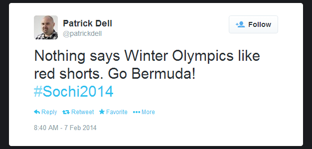Twitter   patrickdell  Nothing says Winter Olympics ...