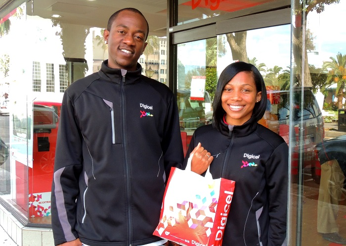 Jabari Gilkes and Shade Simmons-Wolffe have been busy making deliveries ...