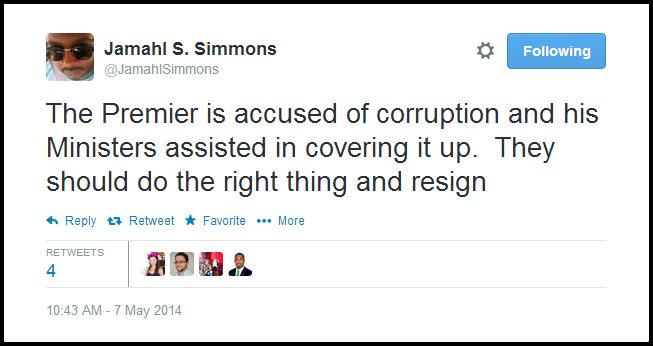 J corruption resign tweet