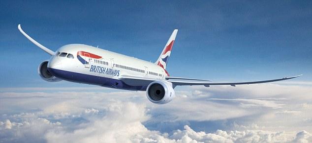 BA british airways airline plane generic