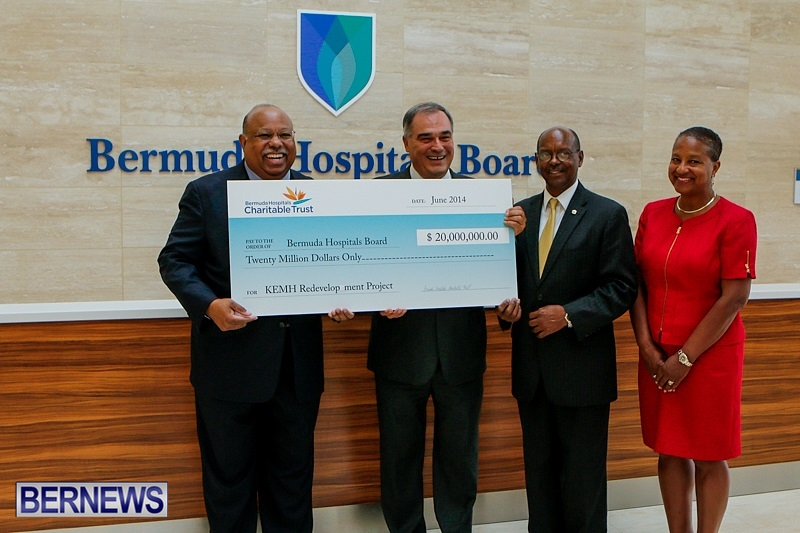 BHCT Presents $20 Million Payment Bermuda, June 24 2014