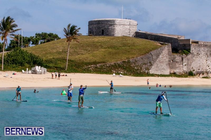 Paddleboarding at Fort St Catherine Beach Bermuda, June 21 2014-2