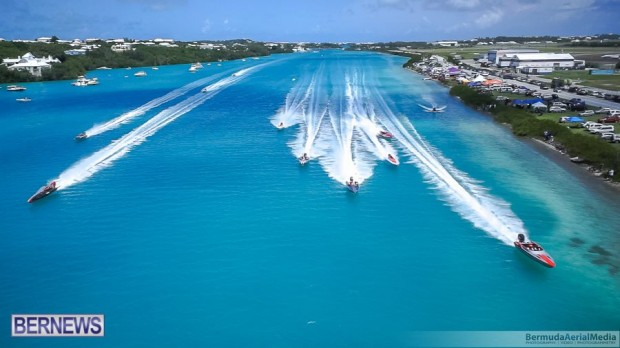 aerial photo round the island race bermuda 2014