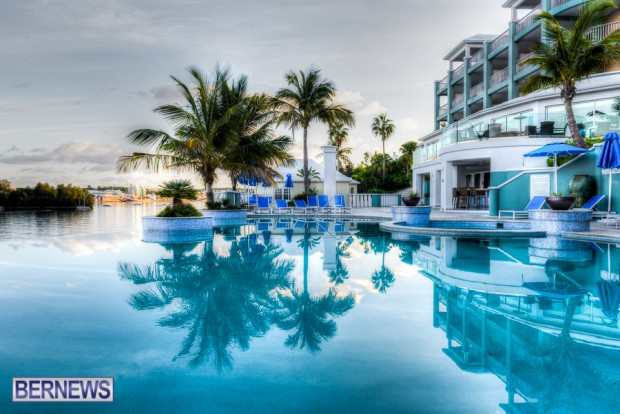 The vanishing pool at the Newstead Hotel, Paget, Bermuda