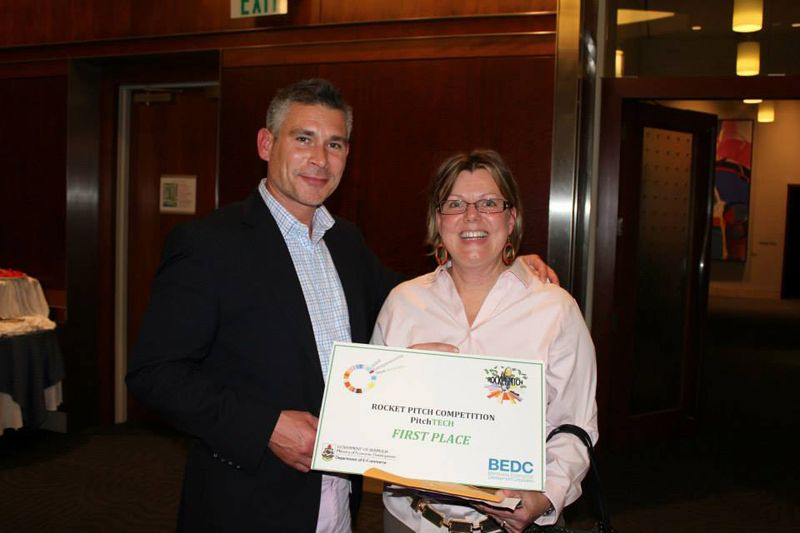 Anthony Hansen of Logic with Katherine Fisher, 1st Place winner in 2013 Pitch Tech category