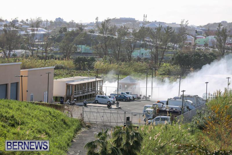 Engine Fire Pembroke Dump Bermuda, October 31 2014