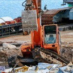 Excavator Removed From Airport Dump Waters Bermuda, October 7 2014-7