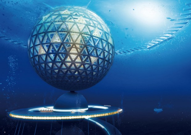 ocean spiral underwater city Japan (4)