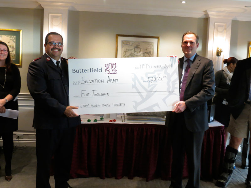 Butterfield Holiday Raffle Donation