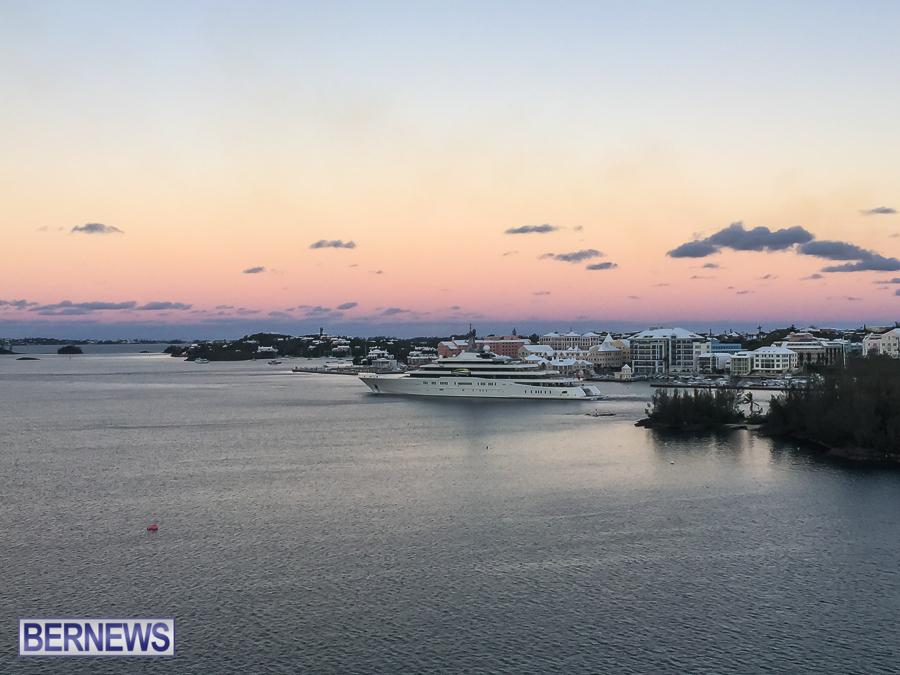 Roman Abramovich's super yacht Eclipse in Bermuda 2014 (1)