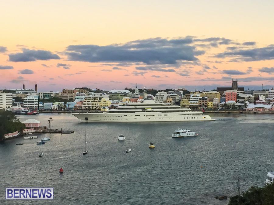 Roman Abramovich's super yacht Eclipse in Bermuda 2014 (2)
