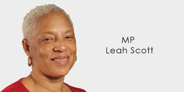 MP Leah Scott banner