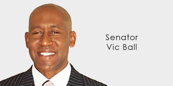 Senator Vic Ball banner