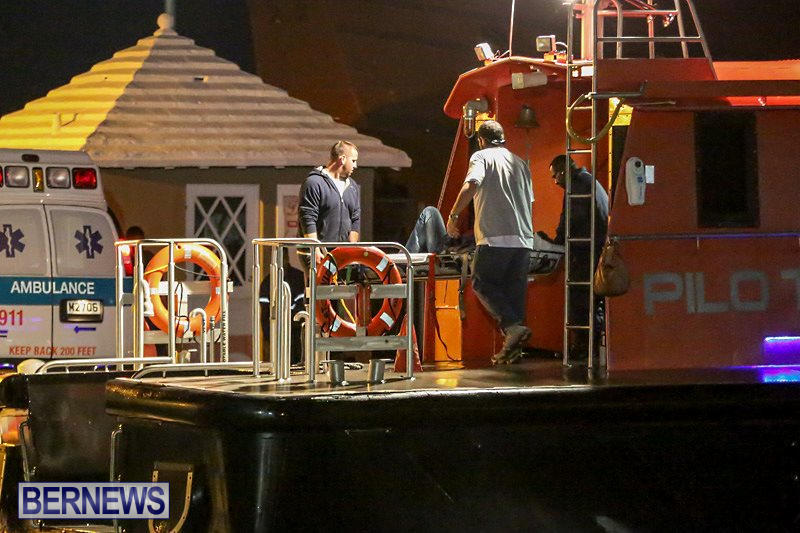 Ship Aargau Medical Transfer Bermuda, February 2 2015-2