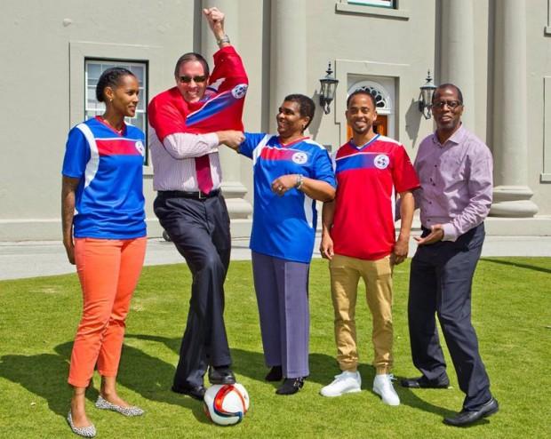 Premier Congratulates Natl' Football Team 2015 march (2)