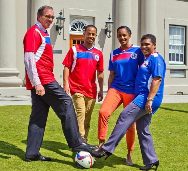 Premier Congratulates Natl' Football Team 2015 march (3)