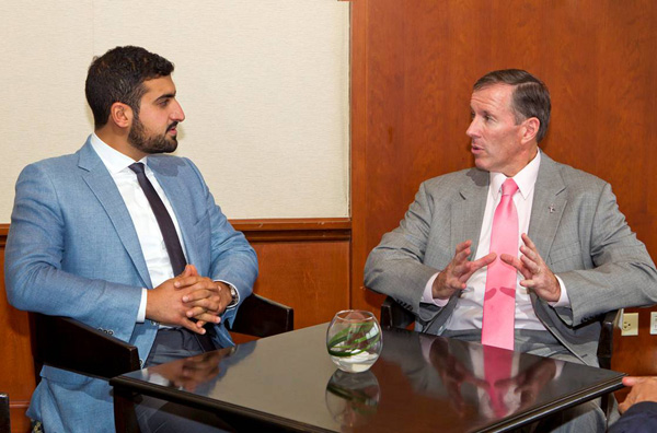 Premier with Prince Abdullah