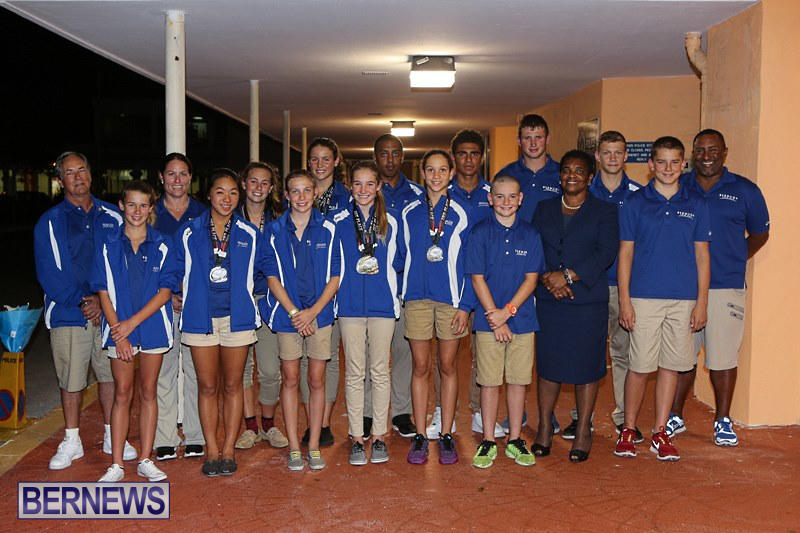 CARIFTA Swim Team Bermuda, April 9 2015-1