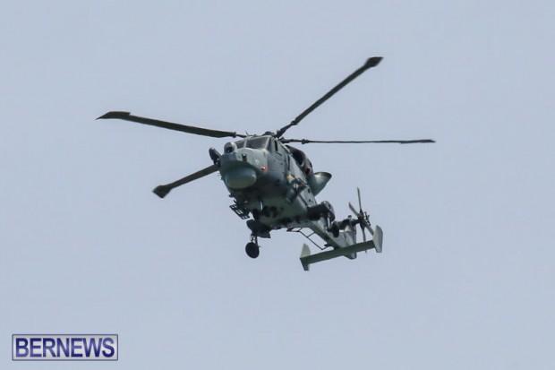 Royal Navy Helicopter Bermuda, April 15 2015-1