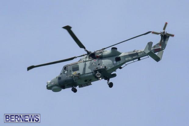 Royal Navy Helicopter Bermuda, April 15 2015-3