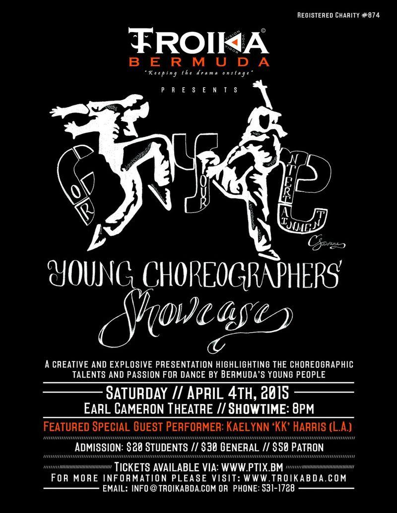Troika bermuda poster young choreographers chowcase