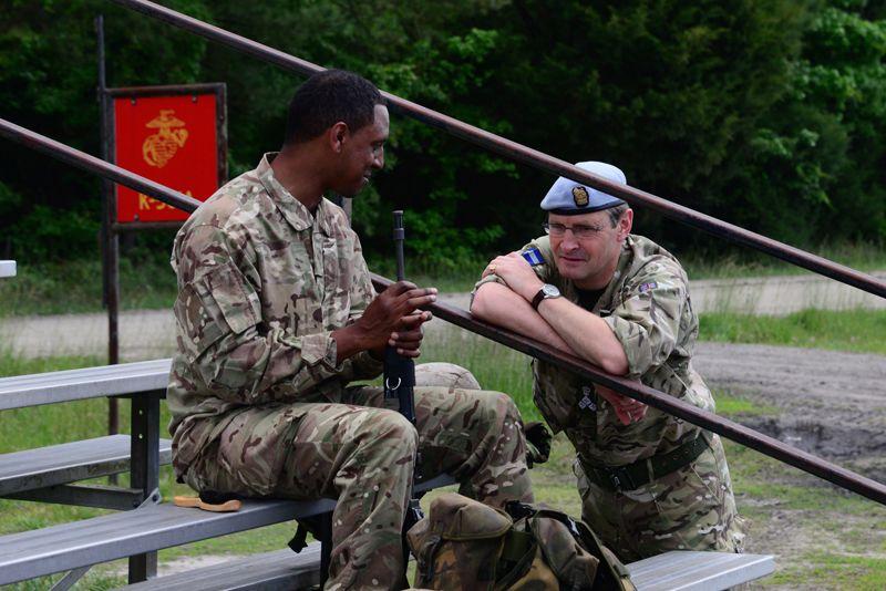 1 - Brigadier James Illingworth chats