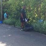 14 Ord Road finding bottles in bushes