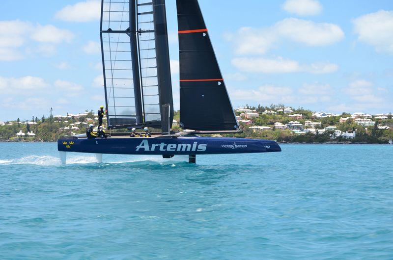 Artemis Racing Touch Down In Bermuda 2
