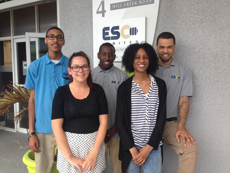 ESC Limited Hires Five Young Bermudians