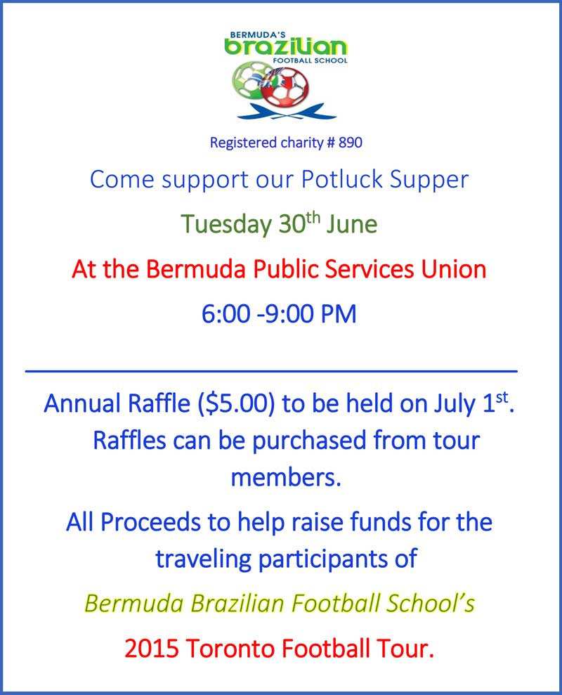 BBFS POTLUCK AND RAFFLE IN AID OF 2015 TOUR TO CANADA