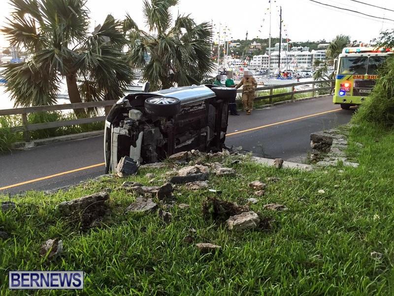 Car Accident Bermuda, June 23 2015-3b